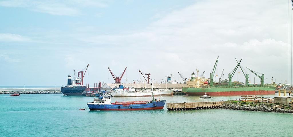 Hafen von Lome, Togo, Afrika.