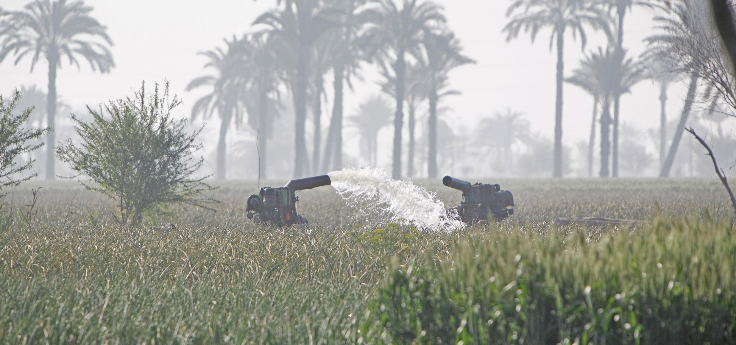 Bewässerungssystem für die Landwirtschaft in Marokko