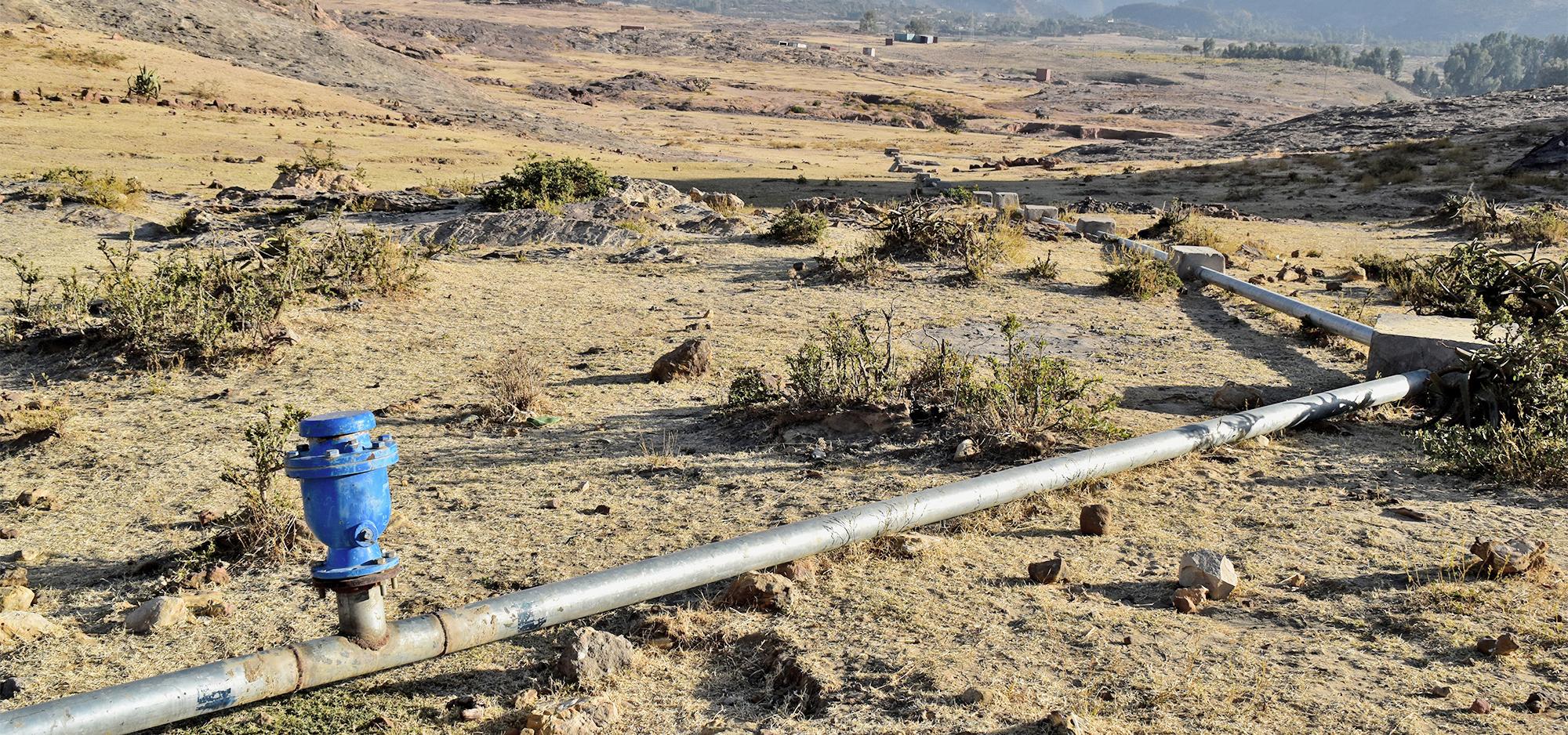 Wasserleitung in Afrika