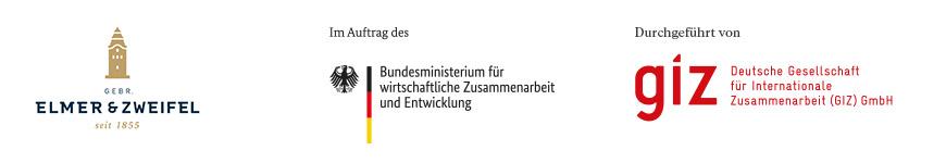 Logobanner Elmer & Zweifel, BMZ und GIZ