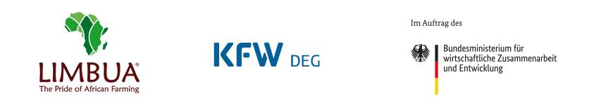 Logobanner Limbua, KfW DEG und BMZ