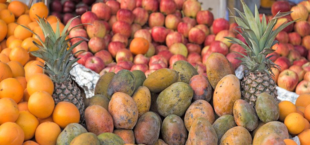 Obstvielfalt für den Import aus Ägypten