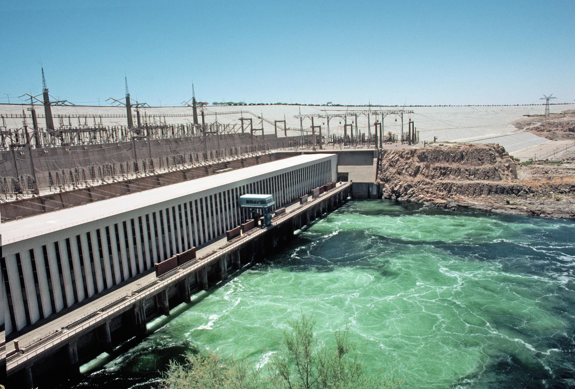 Sandfiltrationsbecken in einer Wasseraufbereitungsanlage