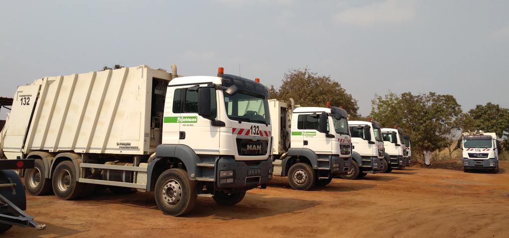 Müllfahrzeuge Nehlsen Angola Ambiente